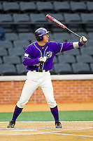 Austin Neary (33) of the Western Carolina Catamounts at bat against the Wake Forest Demon Deacons at Wake Forest Baseball Park on March 26, 2013 in Winston-Salem, North Carolina.  The Demon Deacons defeated the Catamounts 3-1.  (Brian Westerholt/Four Seam Images)