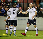 22.11.2019 Linlithgow Rose v Falkirk: Conor Sammon celebrates his second goal for Falkirk with Michael Doyle