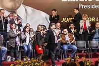 SÃO PAULO, SP - 27.09.2013: CANDIDATURA DO EMIDIO SOUZA PARA PRESIDENTE DO PT - Emidio de Souza durante o lançamento de sua candidatura de para Presidente estadual do Partido dos Trabalhadores (PT) ao lado do Ex presidente da República Lula, realizado na Casa Portugal, região central de São Paulo nesta sexta-feira (27). (Foto: Marcelo Brammer/Brazil Photo Press)