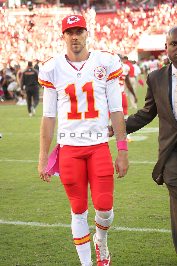 Kansas City Chiefs Alex Smith (11) during a game against the San Francisco 49ers on October 5, 2014 at Levi's Stadium in Santa Clara, CA. the 49ers beat the Chiefs 22-17.