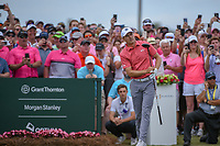 Jordan Spieth (USA) watches his tee shot on 1 during round 4 of The Players Championship, TPC Sawgrass, at Ponte Vedra, Florida, USA. 5/13/2018.<br /> Picture: Golffile | Ken Murray<br /> <br /> <br /> All photo usage must carry mandatory copyright credit (&copy; Golffile | Ken Murray)