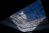 The United States Capitol Building is seen from the Capitol Visitors Center on the first morning of a government shutdown as congress looks to end the political deadlock and fund the government on January 20th, 2018 in Washington, D.C. <br /> Credit: Alex Edelman / CNP