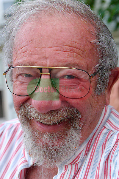 portrait of smiling, friendly elderly man