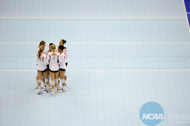 16 DEC 2010: California takes on USC during the Division I Women's Volleyball semifinals held at the Sprint Center in Kansas City,MO. California won 3-0 against USC. Josh Duplechian/NCAA Photos.