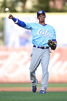 Daytona Cubs shortstop Marco Hernandez (11) during a game against the Dunedin Blue Jays on April 14, 2014 at Florida Auto Exchange Stadium in Dunedin, Florida.  Dunedin defeated Daytona 1-0  (Mike Janes/Four Seam Images)