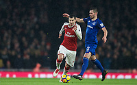 Henrikh Mkhitaryan of Arsenal during the Premier League match between Arsenal and Everton at the Emirates Stadium, London, England on 3 February 2018. Photo by Andrew Aleksiejczuk / PRiME Media Images.