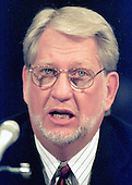 """Bernard J. Ebbers, President and CEO, MCIWorldCom testifies at a hearing before the United States Senate Committee on the Judiciary on """"The MCI WorldCom/Sprint Merger -- A Competition Review"""" on 4 November, 1999 in Washington, DC.<br /> Credit: Ron Sachs / CNP"""