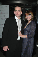 "MATTHEW MacFADYEN & KEELY HOWES.The NY premiere of ""Pride & Prejudice"" at Loews Lincoln Square Theatre, New York, NY..November 10th, 2005.Photo: Patti Ouderkirk/Admedia/Capital Pictures.Ref: PO/ADM.half length wife married husband hand on stomach blue blacak.www.capitalpictures.com.sales@capitalpictures.com.© Capital Pictures."