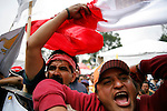 MEXICO DF. SEPTEMBER 2006. SUPPORTERS OF PRESIDENTIAL CANDIDATE ANDRES MANUEL LOPEZ OBRADOR PROTEST IN FRONT OF THE FEDERAL ELECTORAL TRIBUNAL (TRIFE) THAT DECIDED TO NAME FELIPE CALDERON HINOJOSA AS PRESIDENT-ELECT OF MEXICO, REJECTING FRAUD ALLEGATIONS.