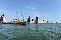 SKÛTSJESILEN: STAVOREN: IJsselmeer, 03-08-2015, 2e wedstrijd IFKS kampioenschap, A-klasse, start, ©foto Martin de Jong