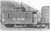 Caboose #0500.<br /> D&amp;RGW  Durango, CO  Taken by Perry, Otto C. - 10/1941
