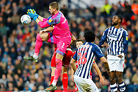 29th December 2019; The Hawthorns, West Bromwich, West Midlands, England; English Championship Football, West Bromwich Albion versus Middlesbrough; Sam Johnstone of West Bromwich Albion spills the ball from a corner kick - Strictly Editorial Use Only. No use with unauthorized audio, video, data, fixture lists, club/league logos or 'live' services. Online in-match use limited to 120 images, no video emulation. No use in betting, games or single club/league/player publications