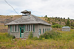 Old one-room school and outhouse, rural Colo.