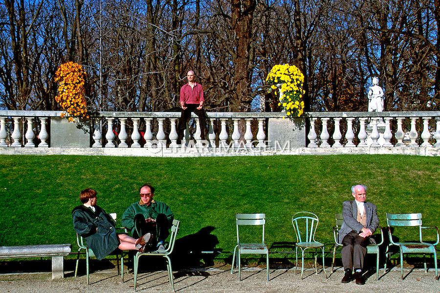 Jardim de Luxemburgo, Paris. França.  1992. Foto de Nair Benedicto.
