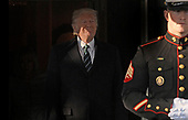 United States President Donald J. Trump awaits the arrival of Prime Minister (Taoiseach) Enda Kenny of Ireland and his wife Fionnuala Kenny on the South Portico of the White House in Washington, DC on March 16, 2017 in Washington, DC. <br /> Credit: Olivier Douliery / Pool via CNP