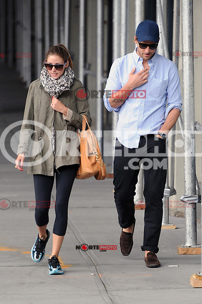 Olivia Palermo and Johannes Huebl out for a stroll in New York City. June 4, 2012. © mpi15/MediaPunch Inc.
