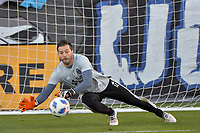 San Jose, CA - Saturday April 14, 2018: Matt Bersano prior to a Major League Soccer (MLS) match between the San Jose Earthquakes and the Houston Dynamo at Avaya Stadium.
