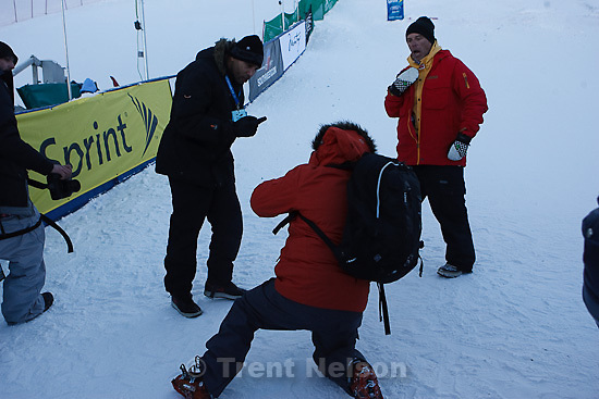 Trent Nelson  |  The Salt Lake Tribune.FIS Freestyle Director Joe Fitzgerald is harassed after getting punched at the FIS Freestyle World Ski Championships Wednesday, February 2, 2011 at Deer Valley.
