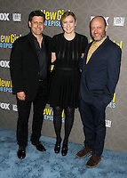 "2 March 2016 - Westwood, California - Brett Baer, Elizabeth Meriwether, Dave Finkel. ""New Girl"" 100th Episode Party held at The W Hotel. Photo Credit: Byron Purvis/AdMedia"