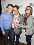 James Wesley and Seth Rudetsky with daughter Juli Wesley attends the Seth Rudetsky Book Launch Party for 'Seth's Broadway Diary' at Don't Tell Mama Cabaret on October 22, 2014 in New York City.