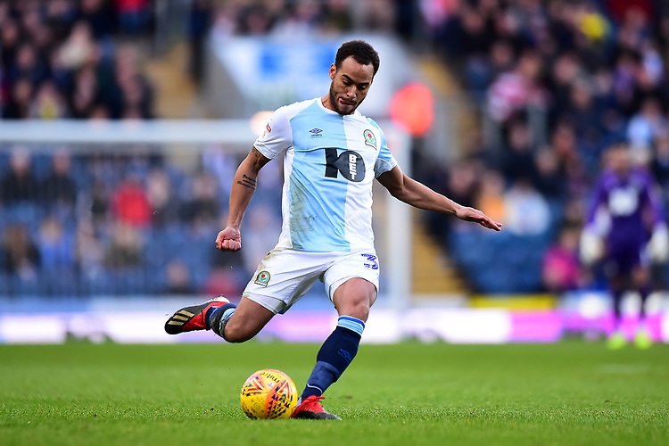 Blackburn Rovers' Elliott Bennett in action<br /> <br /> Photographer Richard Martin-Roberts/CameraSport<br /> <br /> The EFL Sky Bet Championship - Blackburn Rovers v West Bromwich Albion - Tuesday 1st January 2019 - Ewood Park - Blackburn<br /> <br /> World Copyright © 2019 CameraSport. All rights reserved. 43 Linden Ave. Countesthorpe. Leicester. England. LE8 5PG - Tel: +44 (0) 116 277 4147 - admin@camerasport.com - www.camerasport.com