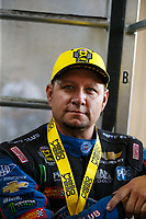 Jul 23, 2017; Morrison, CO, USA; NHRA funny car driver Robert Hight during the Mile High Nationals at Bandimere Speedway. Mandatory Credit: Mark J. Rebilas-USA TODAY Sports