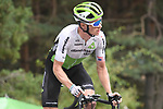 Benjamin King (USA) Team Dimension Data on the final climb at the end of Stage 20 of the La Vuelta 2018, running 97.3km from Andorra Escaldes-Engordany to Coll de la Gallina, Spain. 15th September 2018.                   <br /> Picture: Colin Flockton | Cyclefile<br /> <br /> <br /> All photos usage must carry mandatory copyright credit (&copy; Cyclefile | Colin Flockton)