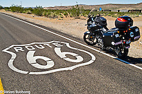 Motorcycle road images taken between Los Angeles and Las Vegas.  Route 66, Mojave Desert, Death Valley