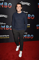 HOLLYWOOD, CA - MARCH 11: Manolo Gonzalez attends the premiere of Disney's 'Dumbo' at El Capitan Theatre on March 11, 2019 in Los Angeles, California.<br /> CAP/ROT/TM<br /> &copy;TM/ROT/Capital Pictures