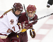 Dru Burns (BC - 7), Emmanuelle Blais (Minnesota-Duluth - 47) - The University of Minnesota-Duluth Bulldogs defeated the Boston College Eagles 3-0 on Friday, November 27, 2009, at Conte Forum in Chestnut Hill, Massachusetts.