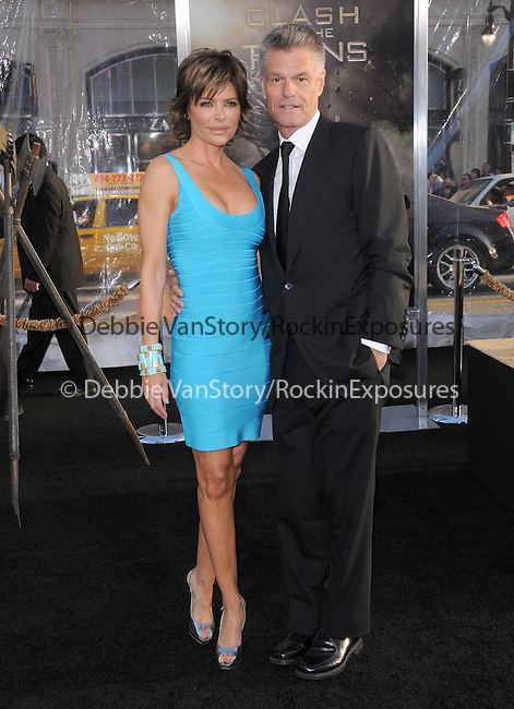 Harry Hamlin & Lisa Rinna at The Warner Bros. Pictures L.A. Premiere of Clash of The Titans held at The Grauman's Chinese Theatre in Hollywood, California on March 31,2010                                                                   Copyright 2010  DVS / RockinExposures
