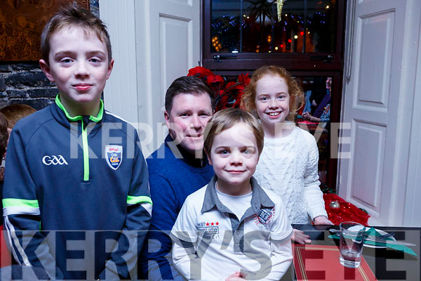 Enjoying their New Year Celebrations in the Brogue Inn on Sunday night are l-r, Killian Horan, Mark O'Regan, Shea Horan and Aisleigh Horan.