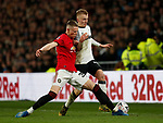 Scott McTominay of Manchester United tackles Louie Sibley of Derby County during the FA Cup match at the Pride Park Stadium, Derby. Picture date: 5th March 2020. Picture credit should read: Darren Staples/Sportimage