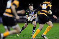 Laurence May of Bath United in possession. Aviva A-League match, between Bath United and Wasps A on December 28, 2016 at the Recreation Ground in Bath, England. Photo by: Patrick Khachfe / Onside Images