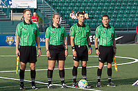 Rochester, NY - Friday May 27, 2016: The game officials. The Western New York Flash defeated the Boston Breakers 4-0 during a regular season National Women's Soccer League (NWSL) match at Rochester Rhinos Stadium.