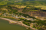 Aerial View of Mosier, Oregon