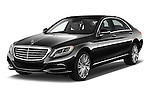 2017 Mercedes Benz S-Class S550-PLUG-IN-HYBRID 4 Door Sedan Angular Front stock photos of front three quarter view