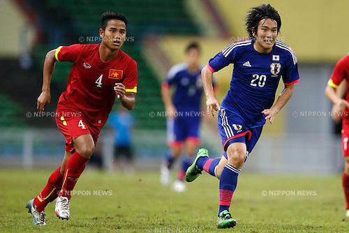 Shinya Yajima (JPN), MARCH 29, 2015 - Football / Soccer : AFC U-23 Championship 2016 Qualification Group I match between U-22 Japan 2-0 U-22 Vietnam at Shah Alam Stadium in Shah Alam, Malaysia. (Photo by Sho Tamura/AFLO SPORT)
