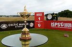 The Ryder Cup on display prior to the start of the ISPS Handa Wales Open 2013<br /> <br /> Golf - Day 1 - ISPS Handa Wales Open 2013 - Twenty Ten Course- Thursday 29th August 2013 - Celtic Manor Resort  - Newport<br /> <br /> © www.sportingwales.com- PLEASE CREDIT IAN COOK