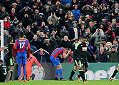 9th December 2017, Selhurst Park, London, England; EPL Premier League football, Crystal Palace versus Bournemouth; Scott Dann of Crystal Palace reacts along with the Palace fans after he misses a goal scoring opportunity