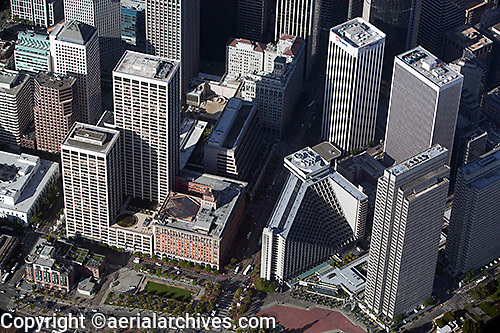 aerial photograph One Market Plaza San Francisco financial district