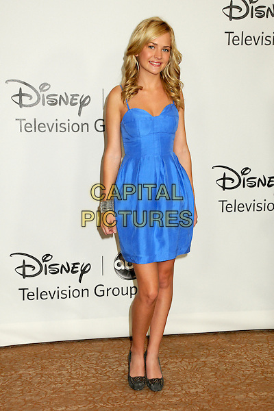 BRITTANY ROBERTSON.Disney ABC Television Summer TCA Party 2010 held at The Beverly Hilton Hotel, Beverly Hills, California, USA..August 1st, 2010.full length dress black shoes silk satin  blue .CAP/ADM/BP.©Byron Purvis/AdMedia/Capital Pictures.