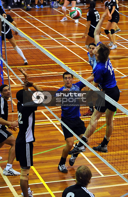 2012 National Volleyball club champs. Trafalgar centre, Nelson, New Zealand. Wednesday 22 August 2012. Photo: Chris Symes/www.shuttersport.co.nz