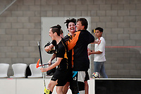 New Zealand Secondary School Floorball Championships at ASB Sports Centre, Wellington, New Zealand on Sunday 25 March 2018.<br /> Photo by Masanori Udagawa. <br /> www.photowellington.photoshelter.com