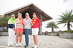 Players pose during a photocall ahead the World Ladies Championship at the Mission Hills Haikou Course on 5 March 2013 in Hainan island, China . Photo by Manuel Queimadelos / The Power of Sport Images