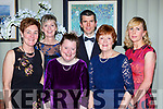 Eileen, Catherine and Noreen Fleming, back row: Siobhain, JJ Fitzgerald and Myra Fitzgerald  at the Kerry Stars ball in the Malton Hotel on Saturday night