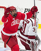 Trevor Yates (Cornell - 15) - The Harvard University Crimson defeated the visiting Cornell University Big Red on Saturday, November 5, 2016, at the Bright-Landry Hockey Center in Boston, Massachusetts.