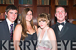3435-3438.---------.Ball Together.-------------.L-R Matthew McCarthy,Naomi Sexton,Lily Toomey and Paul Horgan enjoying St Joseph's secondary school Ballybunion Debs last Saturday night in the Abbeygate Hotel Main St Tralee.