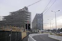 - Milan, building site for the construction of new office buildings in Portello City Life area....- Milano, cantiere per la costruzione di nuovi palazzi per uffici in zona Portello CityLife......