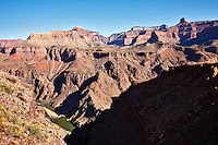 The Colorado River, seen from the South Kaibab Trail in the Grand Canyon, Arizona.